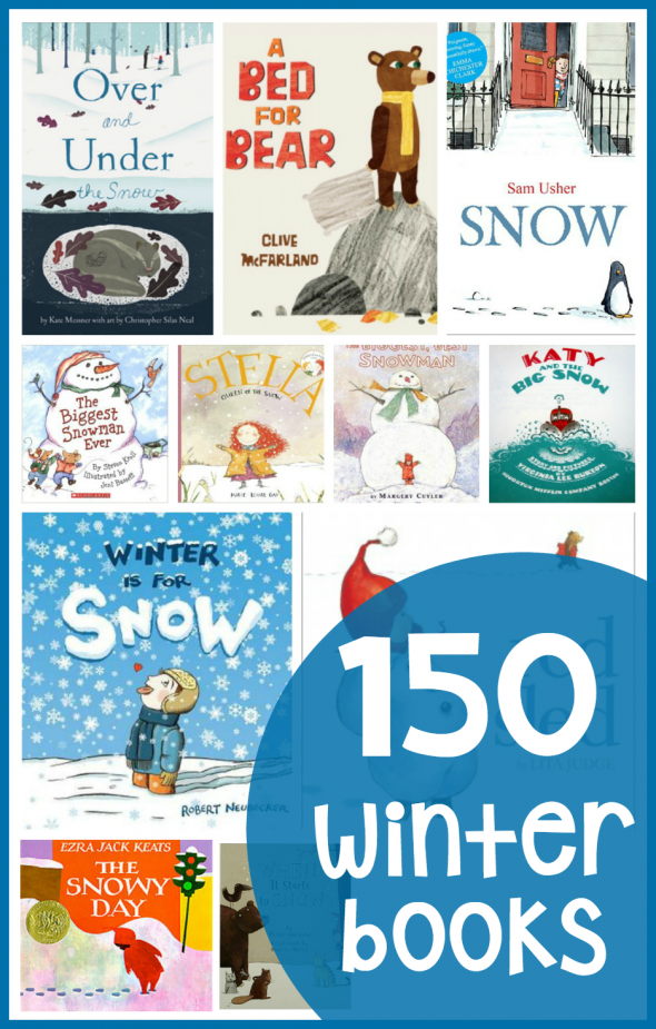 Find over 150 winter books for preschool and kindergarten in this helpful post!
