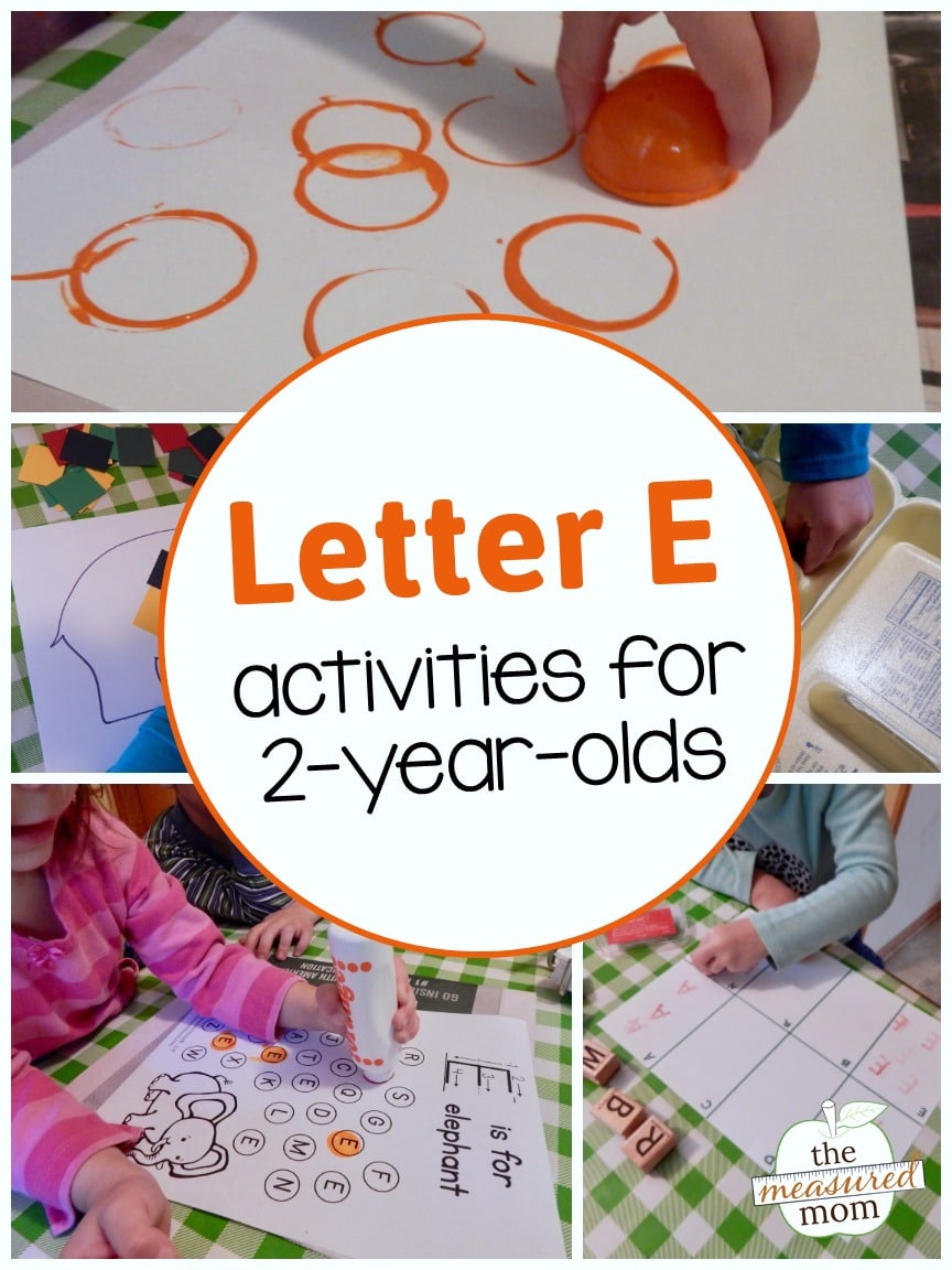 Letter E Activities for 2 Year Olds The Measured Mom