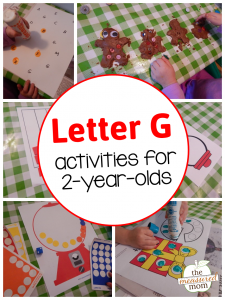 Letter G activities for 2-year-olds