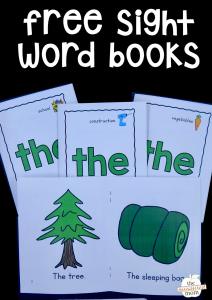 "Free sight word books for the word ""the"""