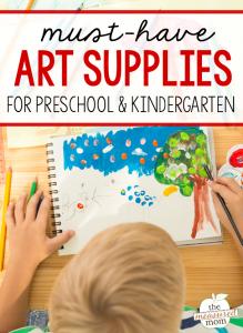 The ultimate list of must-have art materials for preschool & kindergarten