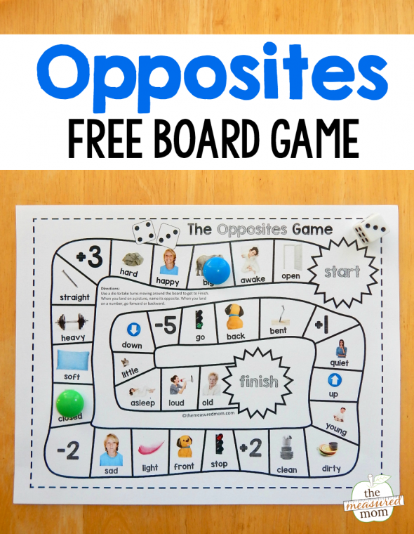 Grab this fun and free opposites game for preschool - just print and