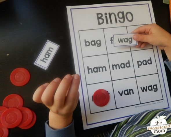 You'll love this free printable - short vowel bingo with pictures! Get 10 games in the free download - plus 10 more game with just the words.