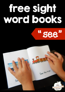 "Teach the sight word ""see"" with four free books!"