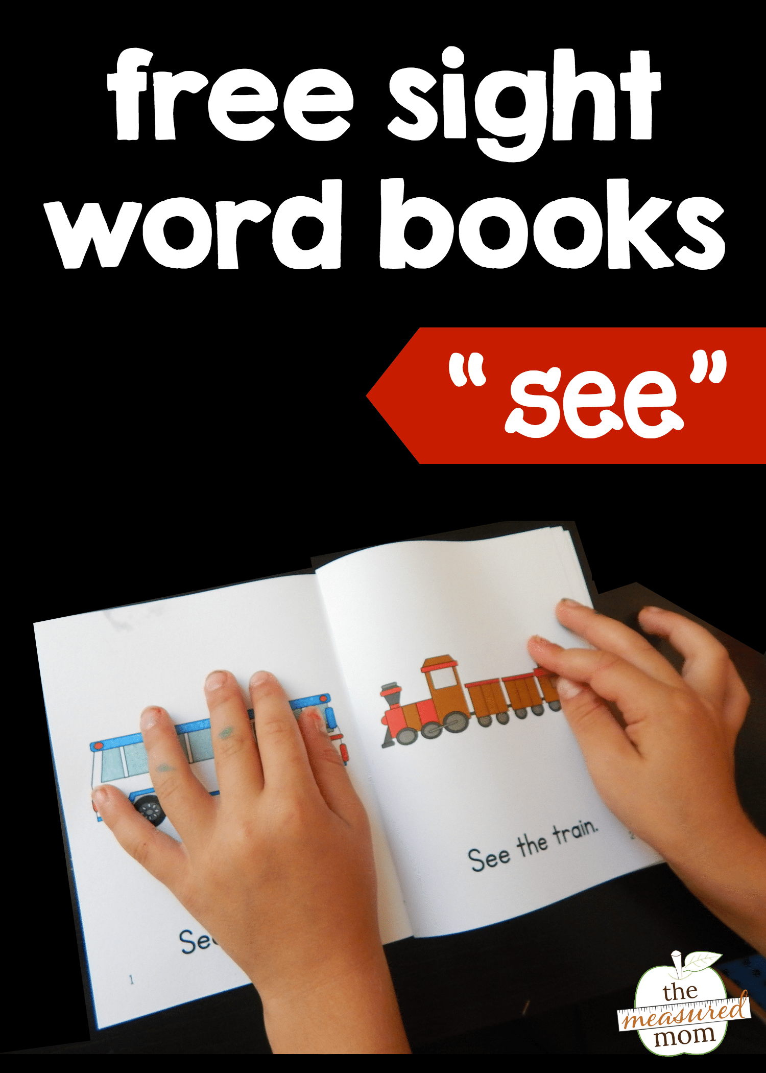 teach the sight word see with four free books the measured mom