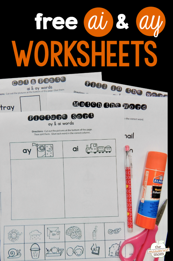 Grab this set of free ai and ay worksheets for extra reading practice!