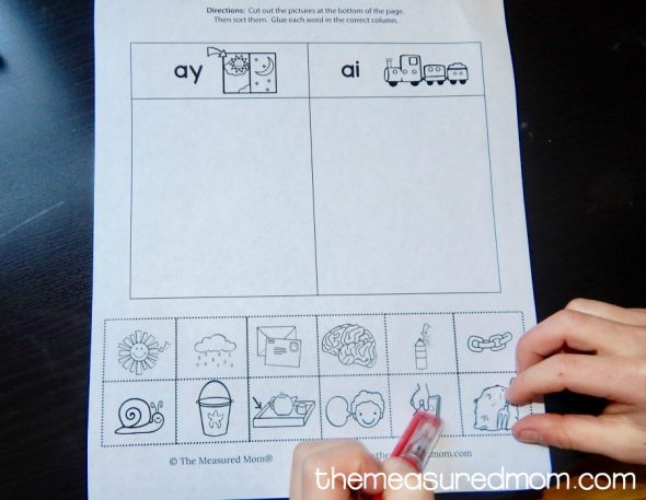 Free ay & ai worksheets - The Measured Mom