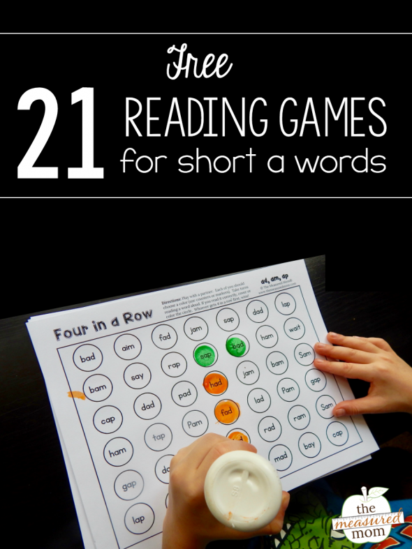 Grab this set of 21 free games to help kids practice reading short a words!