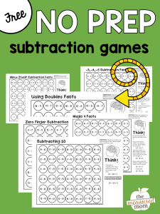 Free math games that teach subtraction strategies