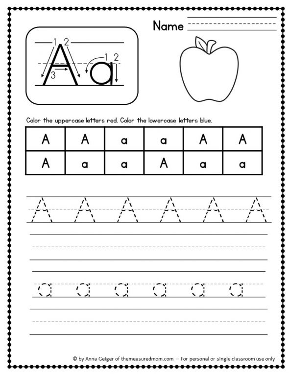 330 Handwriting Worksheets The Measured Mom. Here's A Fun Way To Practice Handwriting Find Variety Of Pages For Practicing Uppercase Letters Lowercase And The Numbers 09. Worksheet. Handwriting Worksheets Uppercase And Lowercase At Clickcart.co