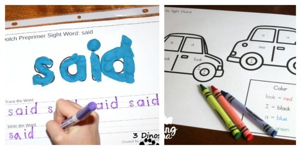 25 sight word activities that you can set up in minutes the 15 grab the play dough a sheet protector and a dry erase marker your child can build the word with play dough and write it on the lines below sciox Image collections