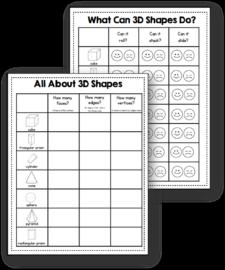 3d Shape Worksheets The Measured Mom