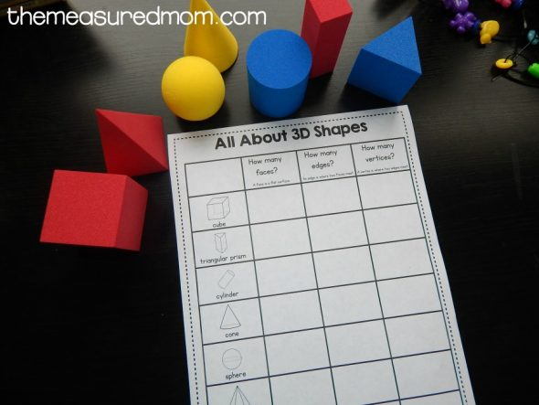 Grab these free 3D shape worksheets! - The Measured Mom