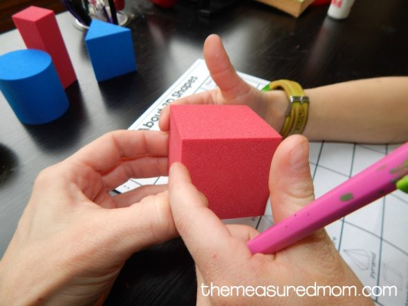 Download these free 3D shape worksheets!