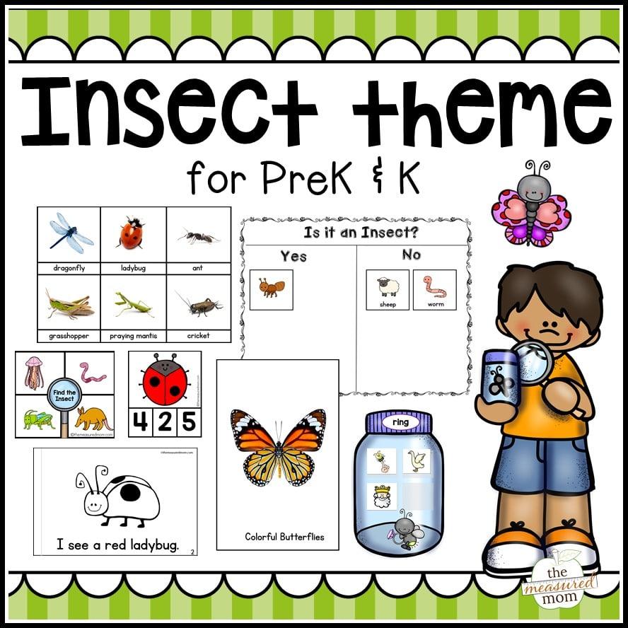 Insect Theme For Pre Kk on Letter Q Preschool Printable Pack