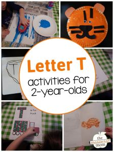 Letter T Activities for 2-year-olds