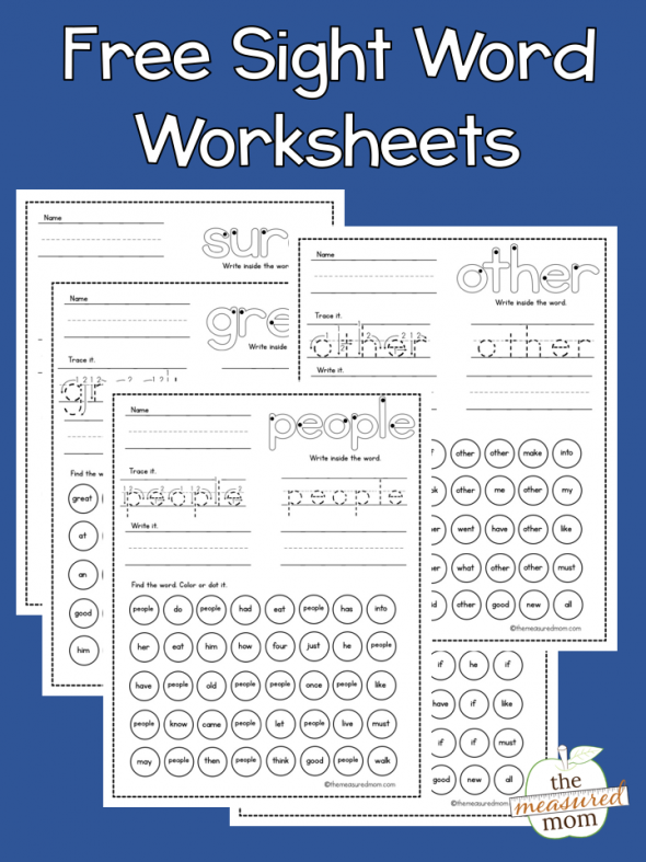 picture about Printable Sight Word referred to as Free of charge sight term worksheets - The Calculated Mother
