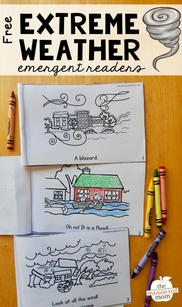 Kids love these free emergent readers about extreme weather!