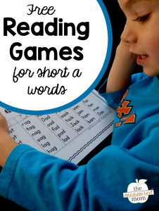 7 Quick and fun games for reading short a words