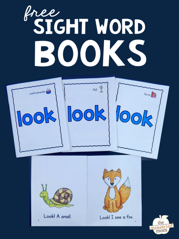 Vibrant image for free printable sight word books