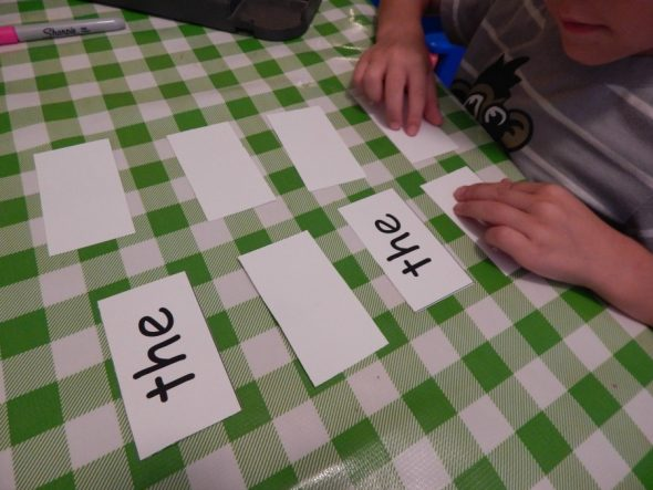 Memory games are a great way to review sight words!