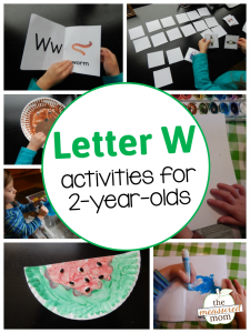 Letter W Activities for 2-year-olds