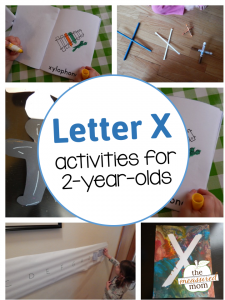 Letter X Activities for 2-year-olds