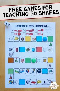 Free games for teaching about 3D shapes