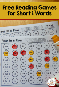 Free four-in-a-row games for short i words