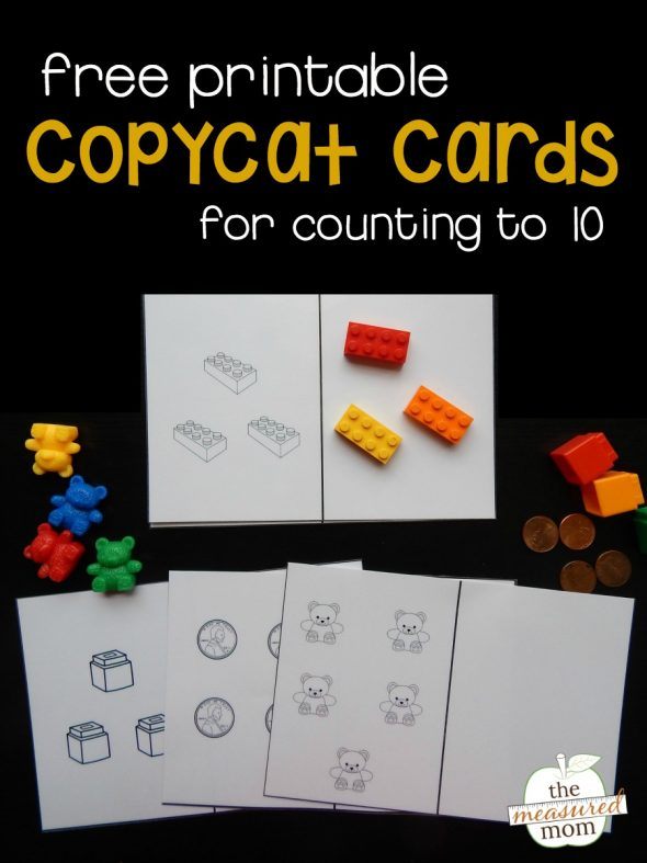 Teach counting with these free printable copycat cards!
