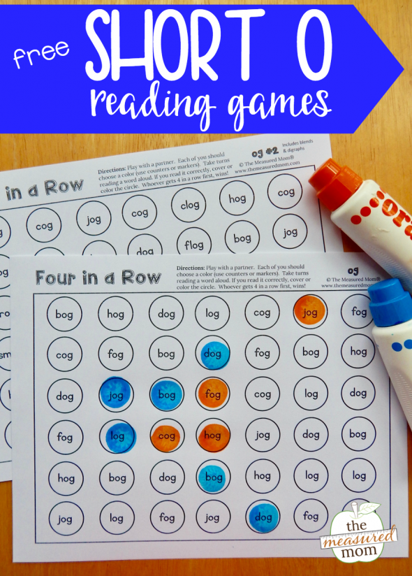 Grab this set of 13 free games to give kids practice reading short o word family words!