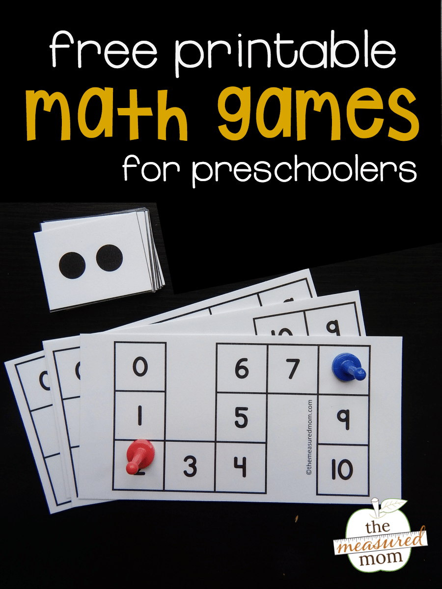Free count to 10 games for preschoolers - The Measured Mom