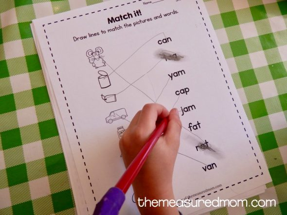 Free Short A Worksheets The Measured Mom