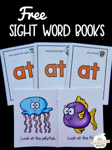 "New sight word books to teach the word ""at"""