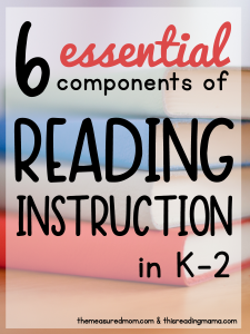 The 6 Essential components of reading instruction in K-2
