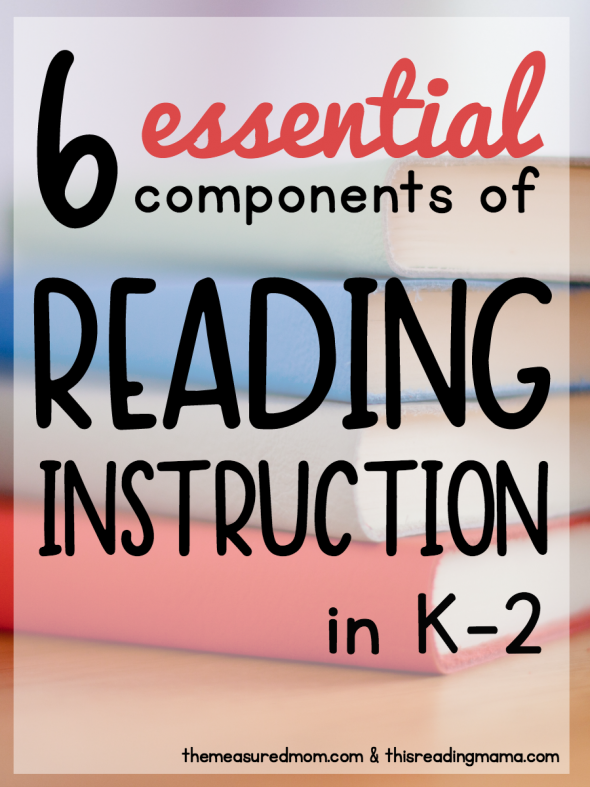 Learn about the six essential components of reading instruction in K-2 with our helpful posts and printable cheat sheets!