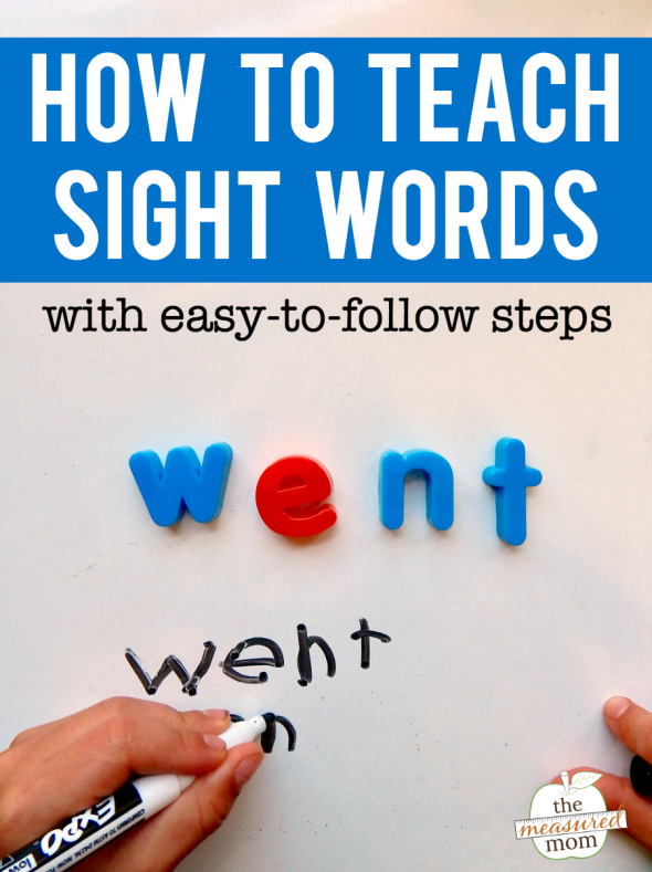 Wondering how to teach sight words? Try this simple, step-by-step process. It works!