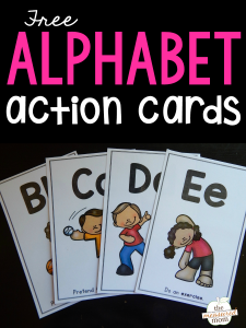 Teach letter sounds with alphabet action cards!