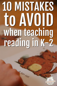 10 mistakes to avoid when teaching reading