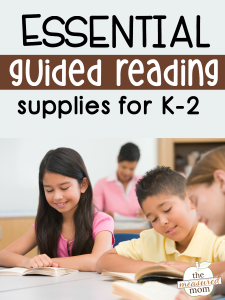Essential guided reading supplies