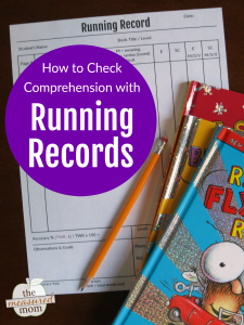 How to use a running record to check comprehension