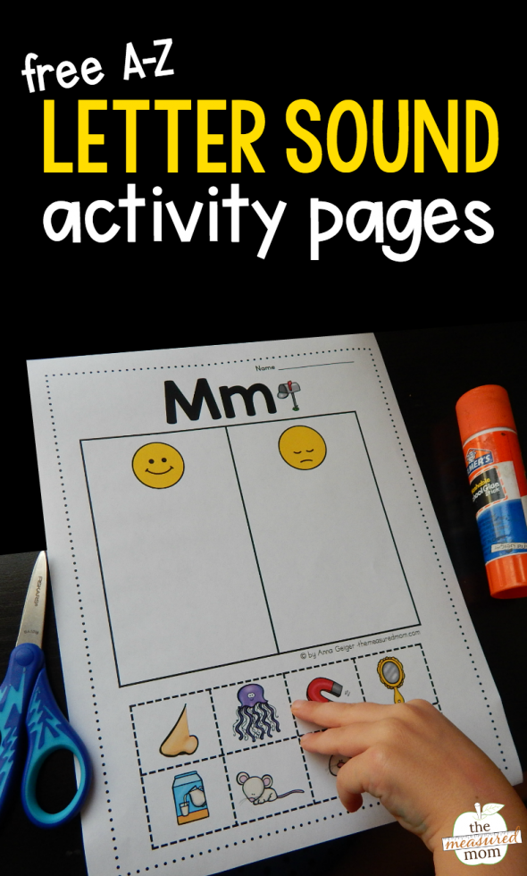 Letter Sound Cut And Paste Activity Pages - The Measured Mom