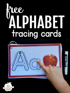 Help kids remember letters with this free alphabet tracing book!