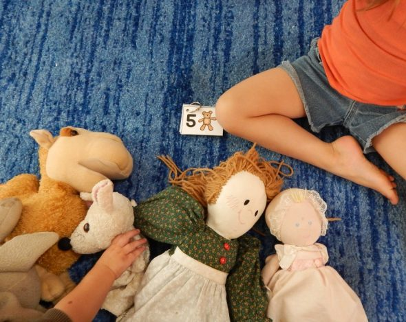 counting stuffed animals