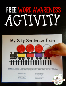 Free word awareness activity