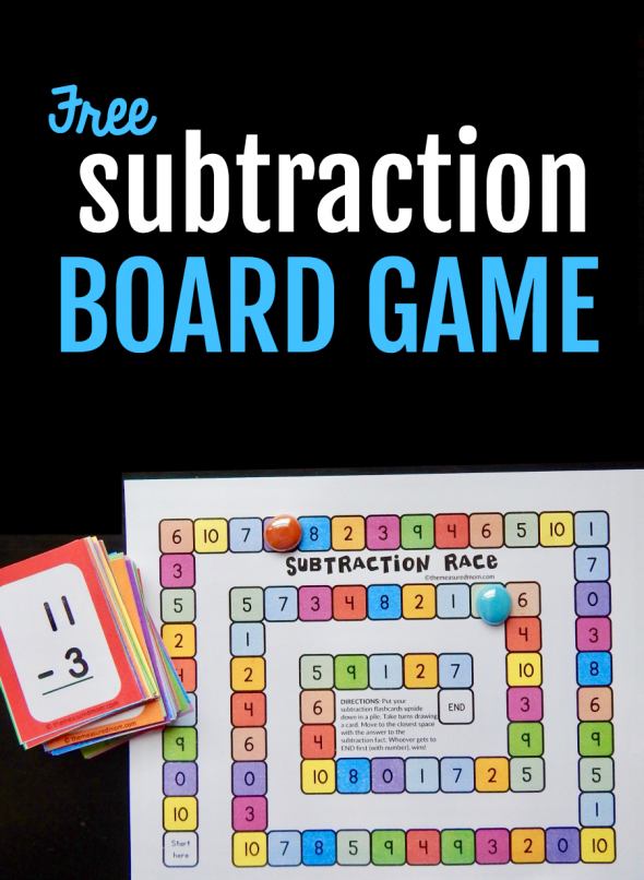 Grab your subtraction flash cards, and play this fun subtraction game to review those basic facts!
