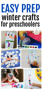 Easy prep winter crafts for kids in preschool