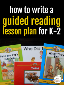 How to prepare a guided reading lesson