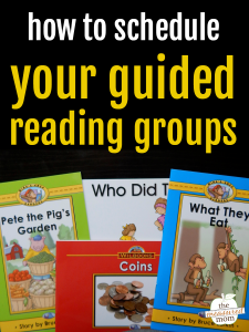 How to schedule your guided reading groups