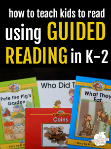 How to teach kids to read using guided reading
